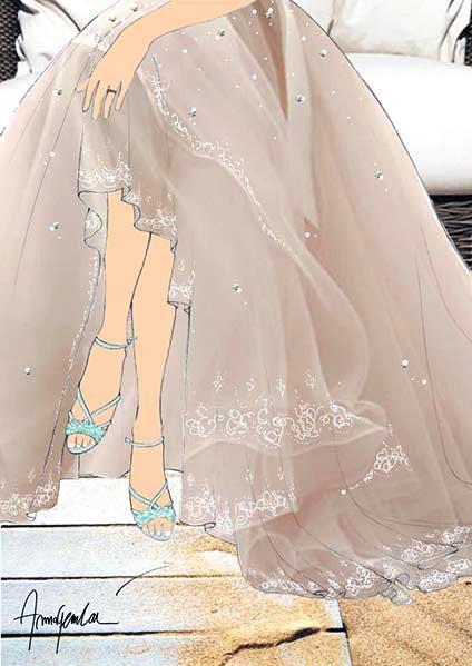Atelier Lascari Craftsmanship - Haute Couture - Fashion Illustration